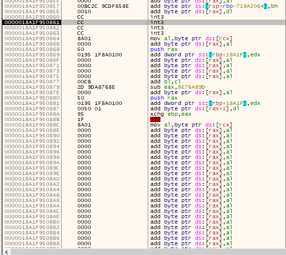 Macro executing our shellcode